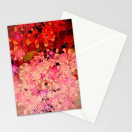 Two Different Worlds -- Floral Pattern Stationery Cards