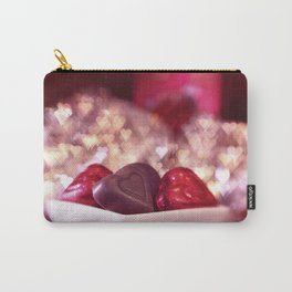 I Love Chocolate and Valentines Day Carry-All Pouch