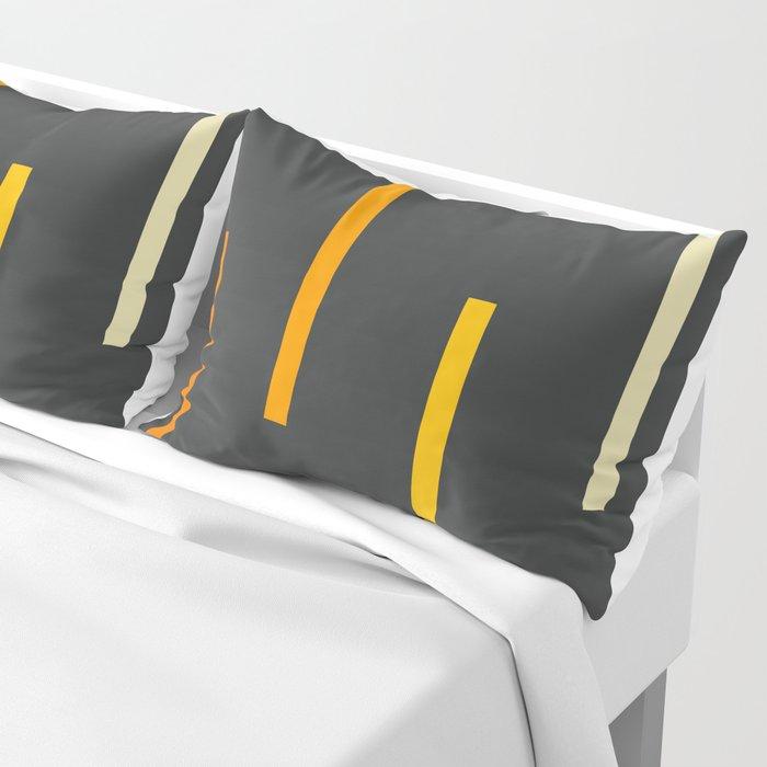 Abstract Minimal Retro Stripes Ashtanga Kissenbezug