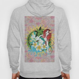 Mermaid and plumeria flowers Hoody