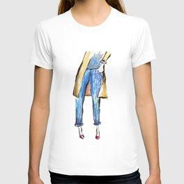 Blue jeans  T-shirt