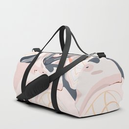 Elegant Zen Marbled Effect Design Duffle Bag