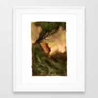 wind Framed Art Prints featuring Wind by Iris V.
