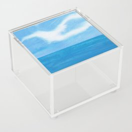 White Dove Sky Acrylic Box