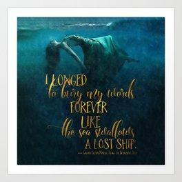 Fear of the Drowning Deep - Bury My Words Art Print