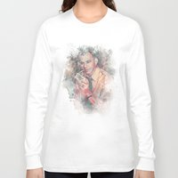 frank sinatra Long Sleeve T-shirts featuring Frank Sinatra by Nechifor Ionut