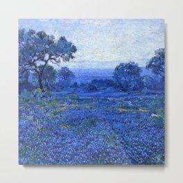 Bluebonnet pastoral scene landscape painting by Robert Julian Onderdonk Metal Print