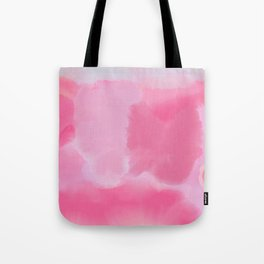 Abstract Hand Painted Pink Lavender Watercolor Tote Bag
