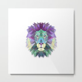 POLYGON LION HEAD Metal Print