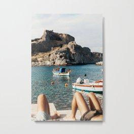 Slow Summer Day in Greece Metal Print