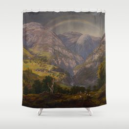 Johan Christian Dahl, View from Stalheim, 1842 Shower Curtain