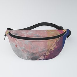 Universe volcano explosion abstract pop art  Fanny Pack