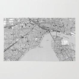 Vintage Map of Jacksonville Florida (1950) BW Rug
