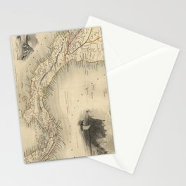 Vintage Map of Panama (1851) Stationery Cards