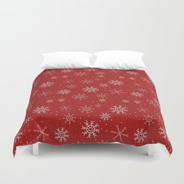 New Year Christmas winter holidays cute pattern Duvet Cover