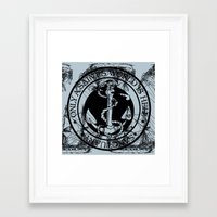 marine Framed Art Prints featuring Marine by CottonMouth
