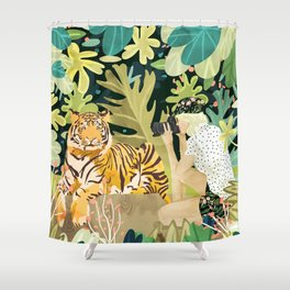 Tiger Sighting Shower Curtain