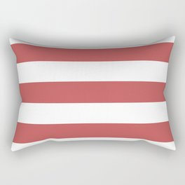 Bittersweet shimmer - solid color - white stripes pattern Rectangular Pillow