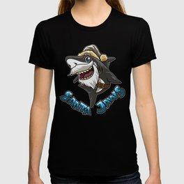 Santa Jaws - Santa Claus Shark Parody T-shirt