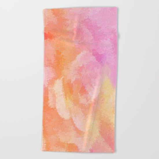 Soft Pastel Floral Blend Beach Towel