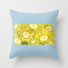 Kansas in Flowers Throw Pillow