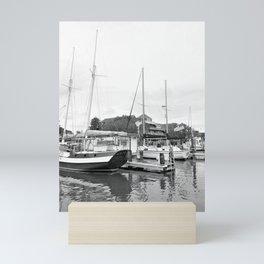 Boats at the Manteo Waterfront Marina Roanoke Island North Carolina Mini Art Print