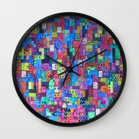 tetris Wall Clocks featuring Tetris by fieltrovitz