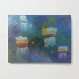 Cuboid Jellyfish Metal Print