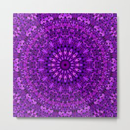 Purple Spiritual Flower Garden Metal Print