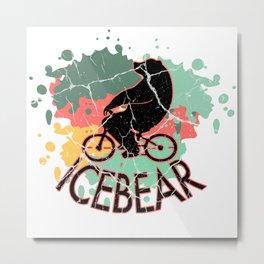 Polar Bear Bear Antarkis Ice Floe Gift Bear Metal Print