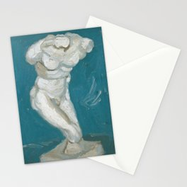 Male Torso by Vincent Van Gogh, 1886 Stationery Cards