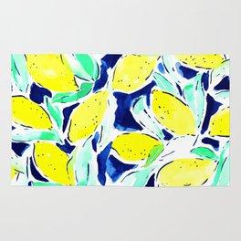 Bold Lemons Blue Rug