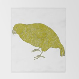 Kakapo Says Hello! Throw Blanket