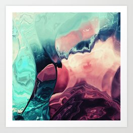 Feel the Clashing wave Art Print