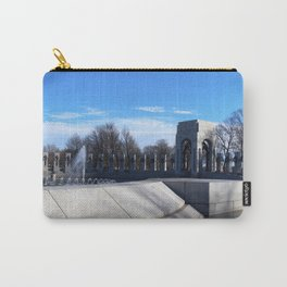 World War II Memorial on Christmas Day - Washington, DC Carry-All Pouch