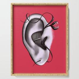 Ear Monster Weird Art Serving Tray