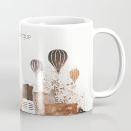 Brown Albuquerque skyline design Coffee Mug