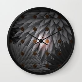 Space winter Wall Clock
