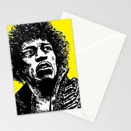 Jimi Hendrix Pop-Art (Yellow) Stationery Cards
