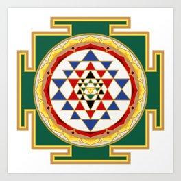 Sri Yantra colored Kunstdrucke