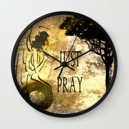 Praying Angel Wall Clock