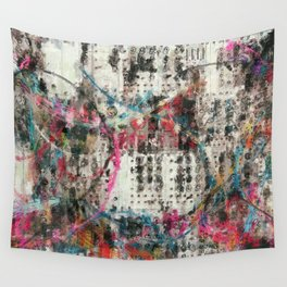 Analog Synthesizer, Abstract painting / illustration Wall Tapestry
