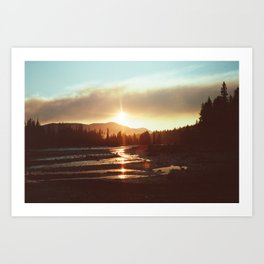 Sunset in the middle of nowhere Art Print