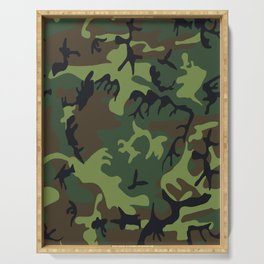 Military camouflage,soldiers pattern decor. Serving Tray