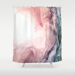 Blush and Blue Dream 1: Original painting Shower Curtain