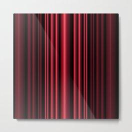 Red 3D Stripes Metal Print