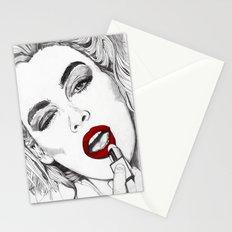 LIPSTICK GIRL Stationery Cards
