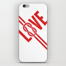 Love Knot (Red) iPhone Skin