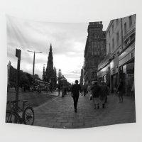 edinburgh Wall Tapestries featuring Princes Street Edinburgh by RMK Creative