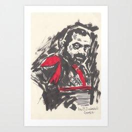 Rugby World Cup 2015 Portraits : Georgia - Davit Zirakashvili Art Print